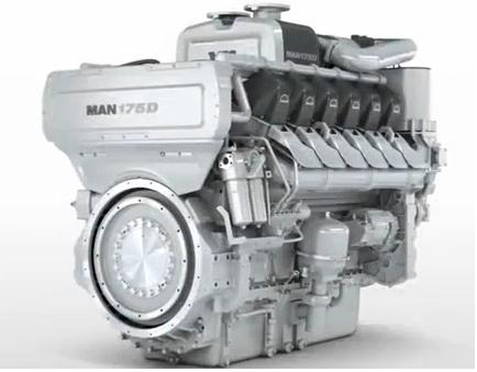 MAN 175D Marine Diesel Engine