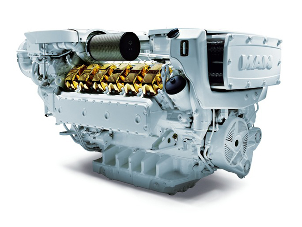 MAN V12-1650 Diesel Engine